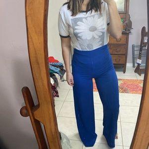 Royal blue palazzo pants
